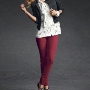 CAbi Corduroy Crimson Red Pants Style #160